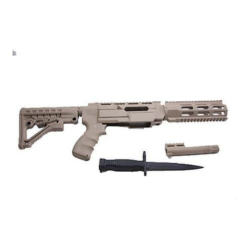 Archangel Ruger 10/22 Conversion Stock - Desert Tan Manufacture ID: AA556R-DT Convert your Ruger 10-22* Carbine Into the Archangel rifle (Advanced Rimfire System) The Archangel allows you to use moder
