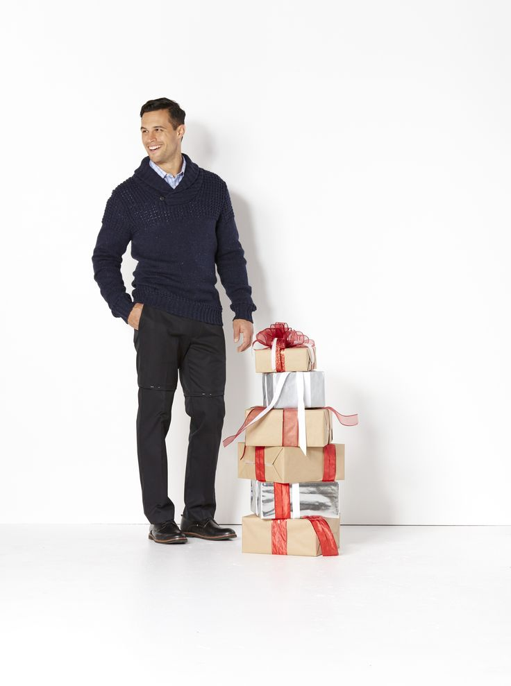 Christmas Party Gifts.  For the man who always wants to look his best, give him the crisp, dry-cleaned look of Never Iron shirts and pants  — and smart, machine-washable sweaters. He'll look dashing through the holidays and beyond.