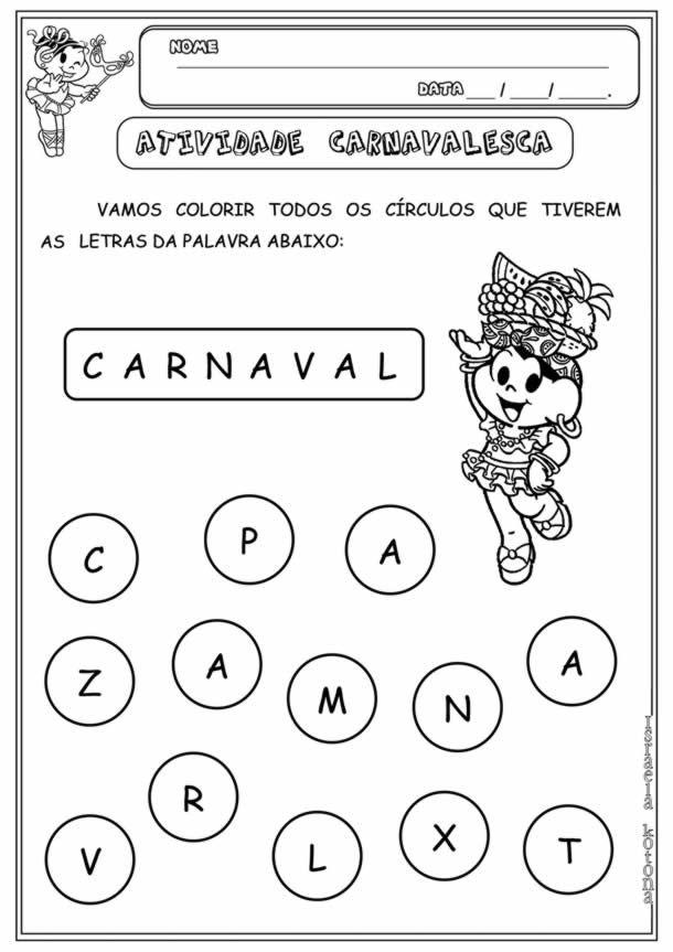 32 Atividades De Carnaval Para Educacao Infantil Baixe Gratis