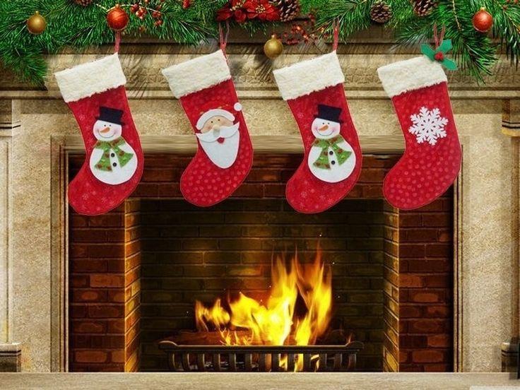 3PCS White Snowflake  Christmas Candy Socks