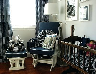 Ordered Navy Glider Cushions With White Piping To Refurbish An Old Glider Can Navy Glider Rocker Navy Blue Glider Rocker Gliders Navy Glider Rocker