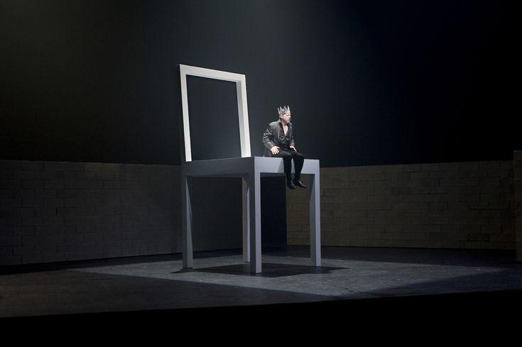 Macbeth on a really big chair
