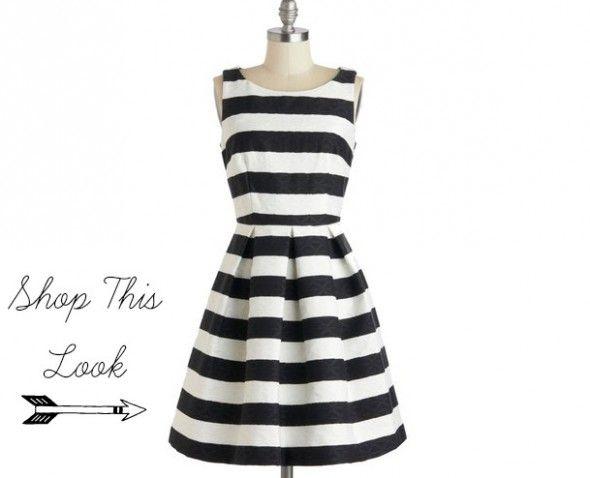 Stripe Bridesmaid Dress