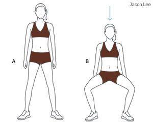 esercizi per rassodare interno coscia - squat con gambe large