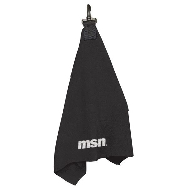 "24"" W x 15.5"" H Quick dry microfiber towel with great absorbing power Black plastic swivel hook to attach to golf bag TR EMB - 4"" W x 3"" H (front bottom)"