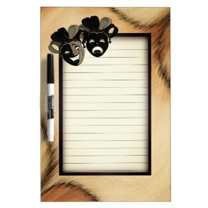 Antiqued Comedy and Tragedy Theater Masks Jester Dry-Erase Board - antique gifts stylish cool diy custom