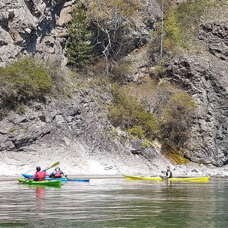 Paddling along some cliffs. #kayakcamping #kayking #seakayaking #baikal #lakebaikal #siberia #russia #kayakingbaikal #lakebaikalkayakoutfitters by kayakingbaikal
