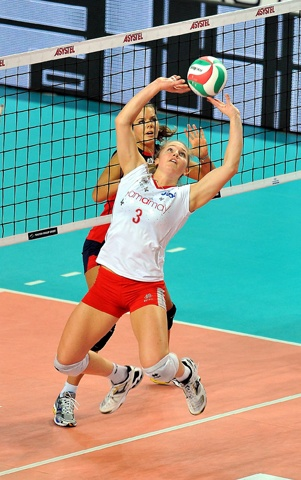 Carli Lloyd, volleyball player, Setter,   USA Team and Yamamay Busto Arsizio (Italy)