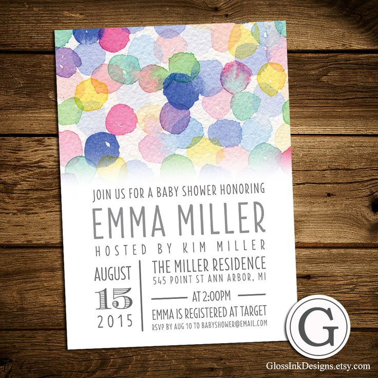 bridal shower invitation pictures%0A Bridal Shower Invitation Watercolor Typography by GlossInkDesigns