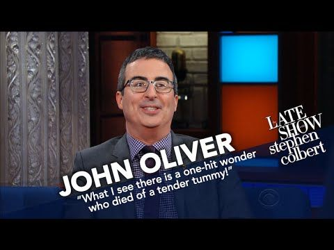 'Last Week Tonight' host John Oliver's wax Warren G. Harding takes on Stephen Colbert's Zachary Taylor in the fight of the (pre-21st) century! https://www.youtube.com/watch?v=5gcojKy6c7Q