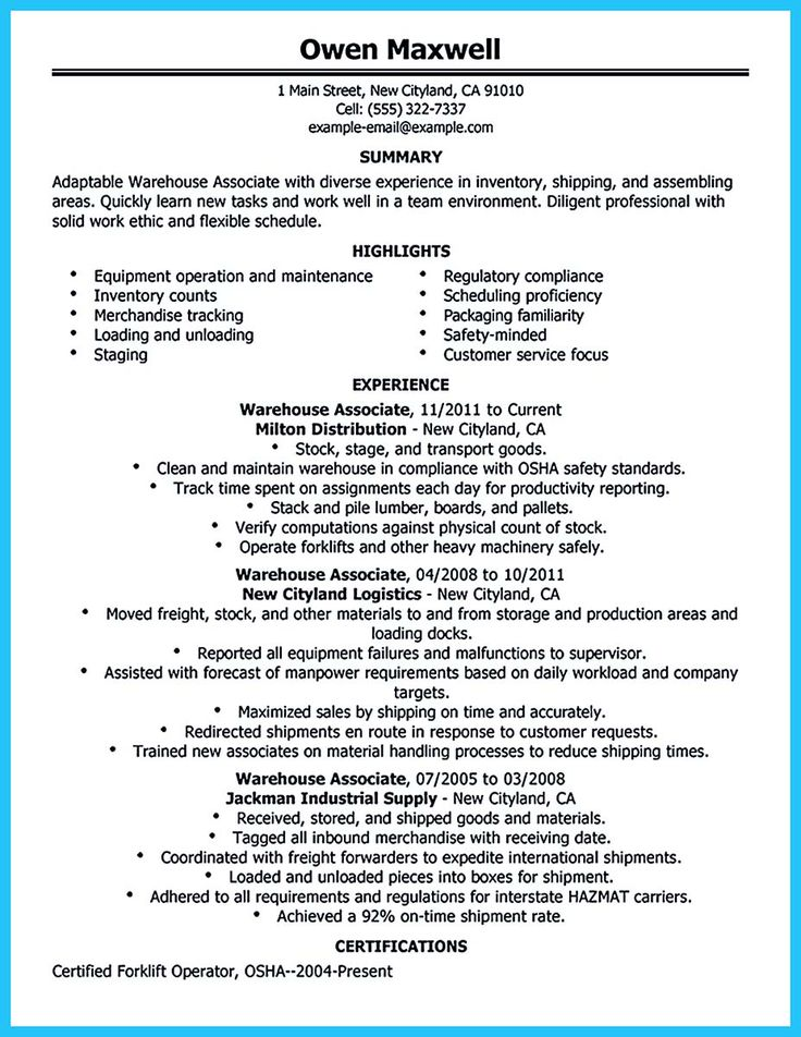 If you need to propose a job and work in a group, you need to write Assembly Line Worker Resume. With this resume you can make a convincing profile th... production line worker resume