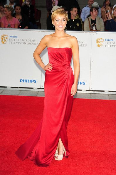 Vicky McClure Evening Dress - Vicky was glowing at the BAFTAS in a stunning strapless red gown.