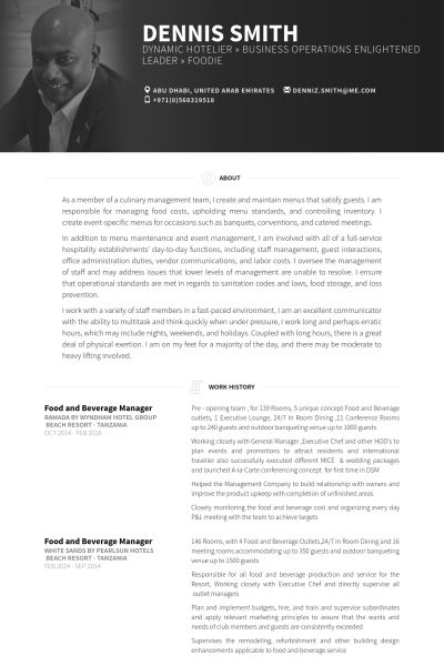 Fb Outlet Manager Resume - Opinion of experts