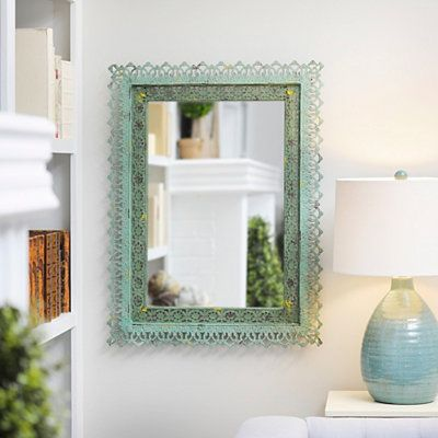 Adele Distressed Green Framed Mirror, 25x33 in. | Kirklands