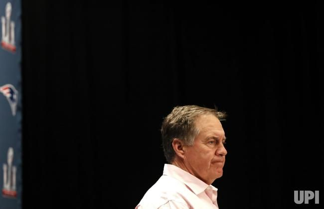 New England Patriots head coach Bill Belichick speaks at a press conference at the JW Marriott in Houston, Texas on February 2, 2017. The…