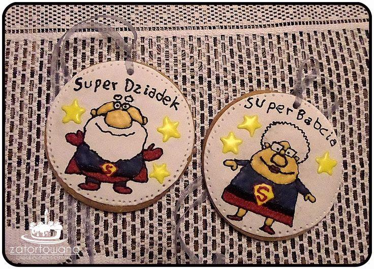 CIASTKA MEDALE SUPER BABCIA SUPER DZIADEK