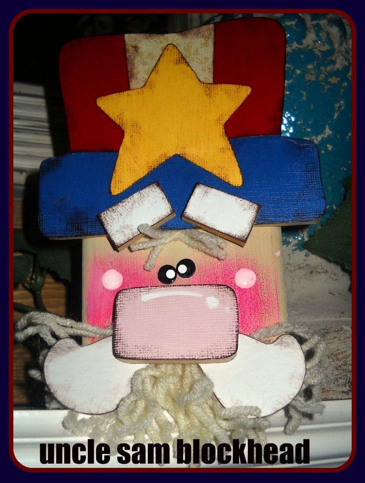 Craft Goodies: Uncle Sam Blockhead Tutorial!!!