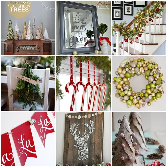 Sharing 25 inspiring and beautiful Christmas Decorations so you can re-create them in your own homes.