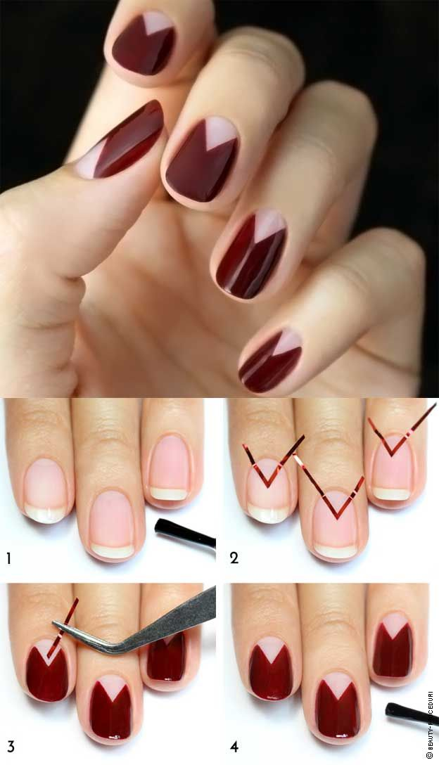 Manicure with masking tape