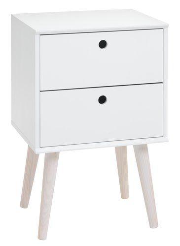 Yöpöytä OPLEV valk./mänty | JYSK