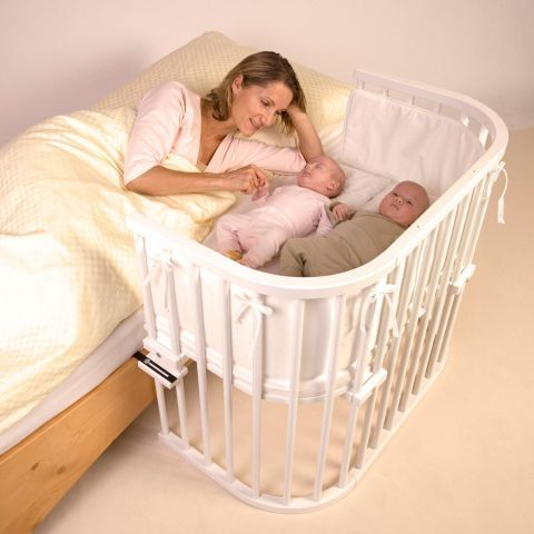 Babybay Maxi Bedside Cot with Mattress in White Kiddicare.com