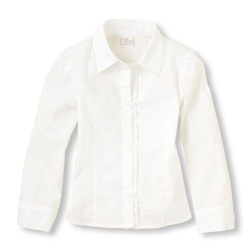 uniform ruffle blouse