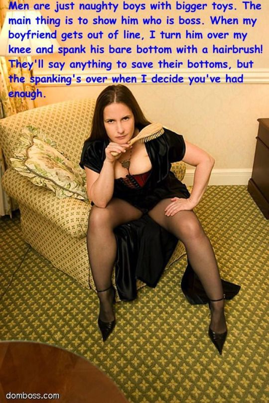 spanking hairbrush Female domination