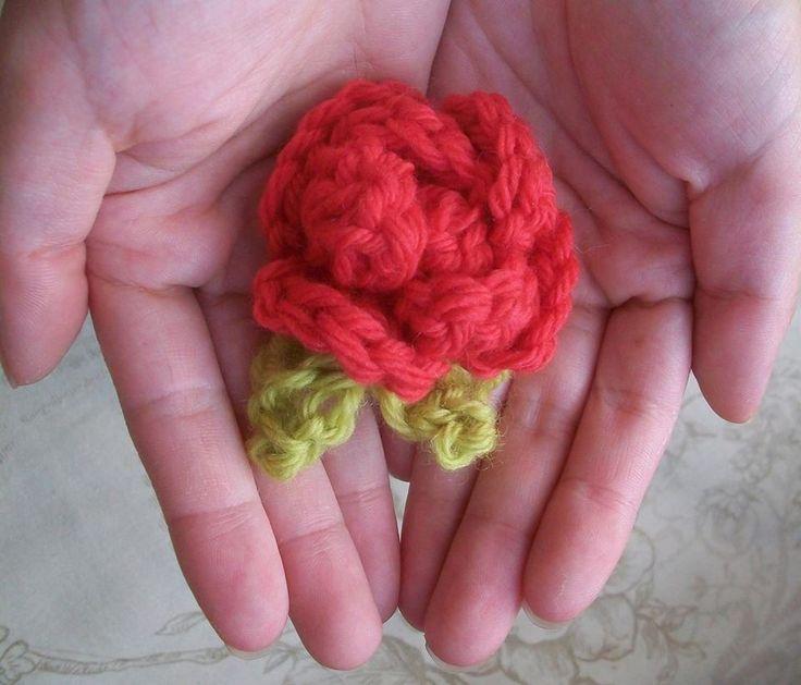 crochet flower I made lol