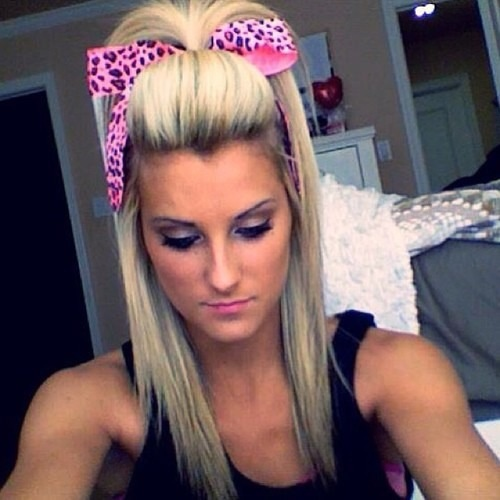 cute cheer hairstyles - 640×647
