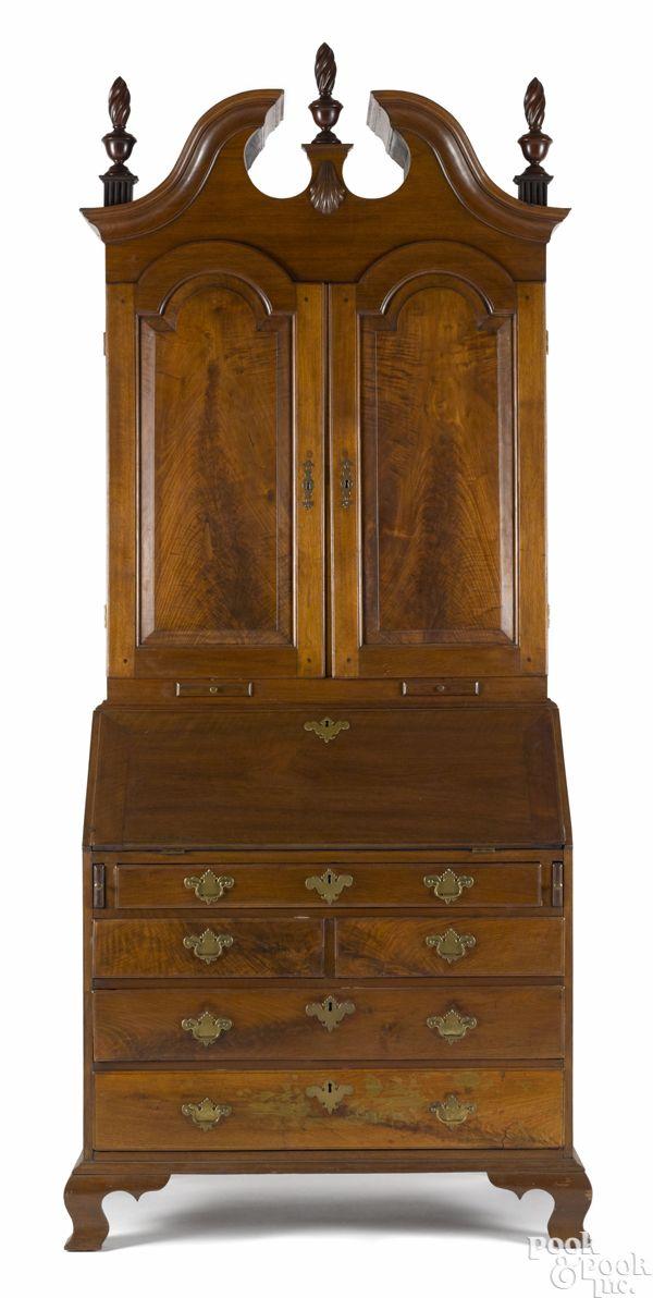Chester County  Pennsylvania Queen Anne walnut secretary desk  ca   1760 bonnet top  Wooden FurnitureFine FurnitureAntique. 884 best Antique Furniture images on Pinterest   Antique furniture