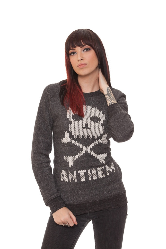 Stitch Skull Crewneck - Anthem Made  Omg this looks so comfy...WANT!