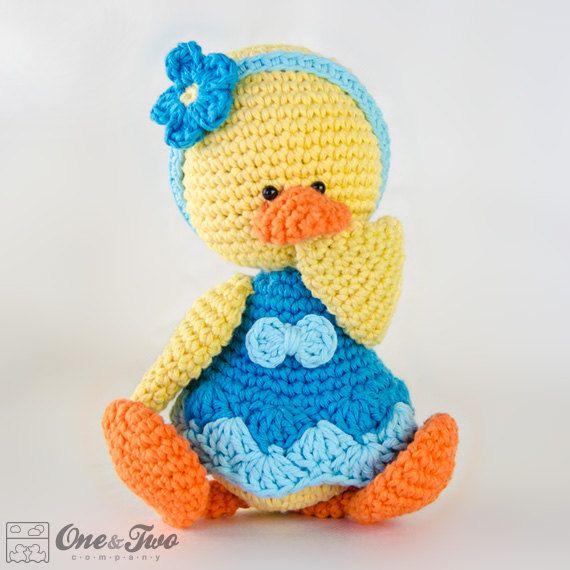 Duck Amigurumi  PDF Crochet Pattern  Instant by oneandtwocompany