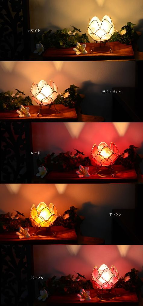 【楽天市場】カピス貝ロータスアジアンテーブルランプ(Sサイズ)5カラー SLA-0001【アジアンランプ アジアン照明 間接照明 LED対応 テーブルランプ フロアスタンド フロアライト インテリア ヨガ バリ雑貨 寝室 リビング】:アジアンランプ&家具雑貨チャハヤ