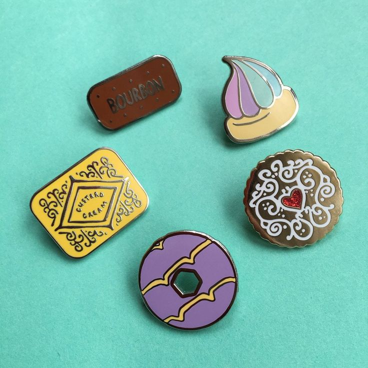 Up your #pingame with our new biscuit Enamel pins! Each of our pins are designed by Nikki and are made from the longest lasting hard enamel. This cuteCustard