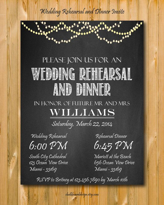 Wedding Rehearsal Invitation Printables Custom Dinner