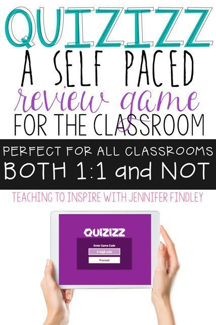 Quizizz is an online review game that is a great alternative to Kahoot. It is self paced and can be played whole group or assigned as homework.