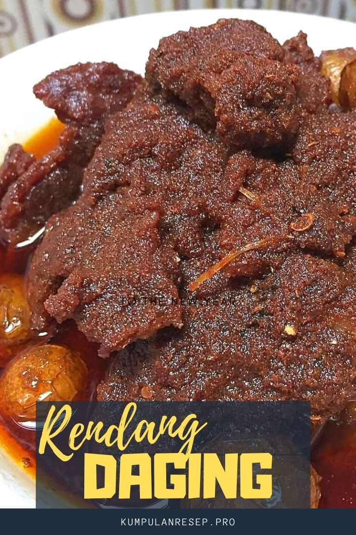 Rendang Daging Asli Padang Makanan Resep Masakan Masakan