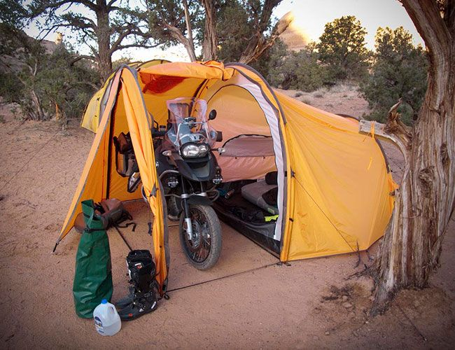 Tenere Motorcycle Expedition Tent - this looks like something he would want!