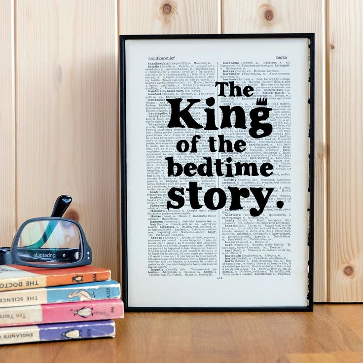 Father's Day gift bedtime story print