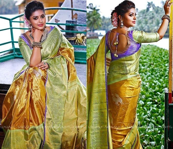 actress sneha saree blouse designs