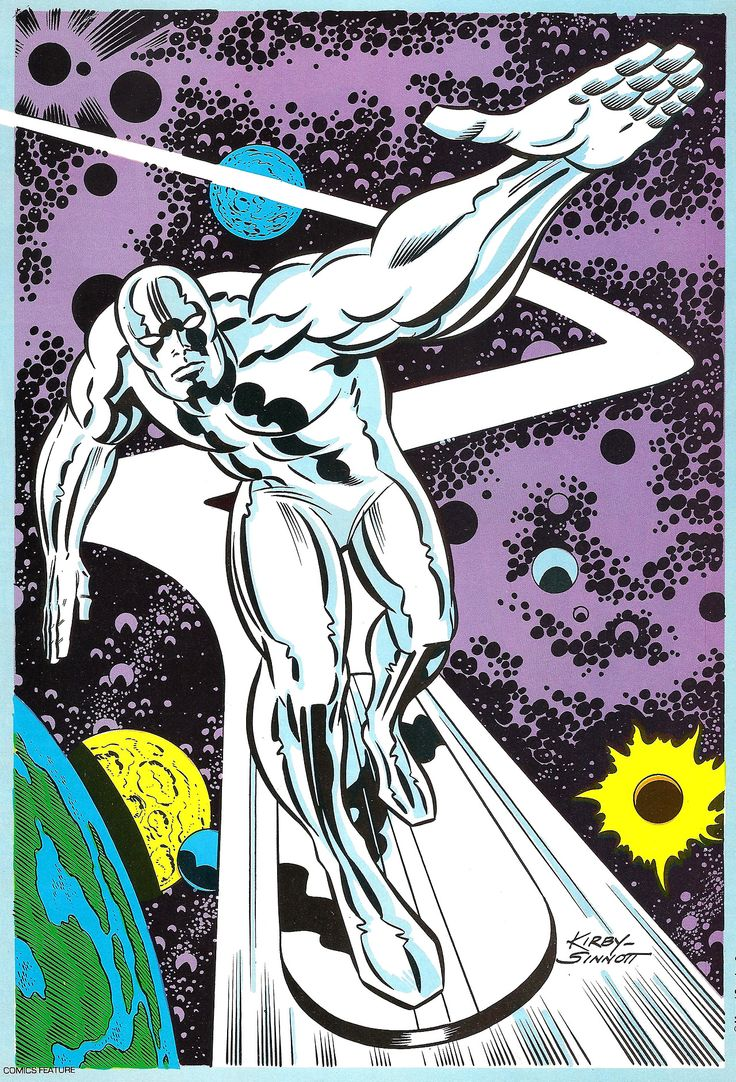 silver surfer pinup by jack kirby heroes amp villains