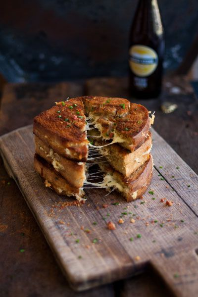 Epic grilled cheese toastie