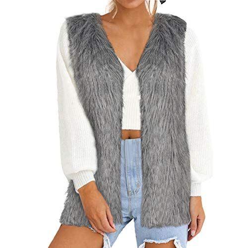36235b3457c Seaintheson Womens Loose Vest Coat Clearance