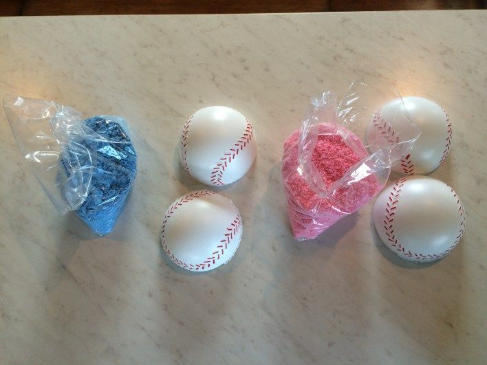 gender reveal party, baseball party, concessions, softball, baseball gender reveal, holi powder