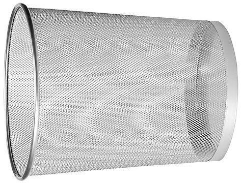 Fémhálós papírkosár több színben fekete ezüst angolvörös szemetes kosár kuka