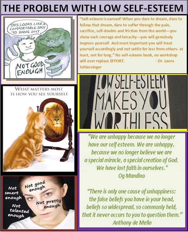 Self esteem problems
