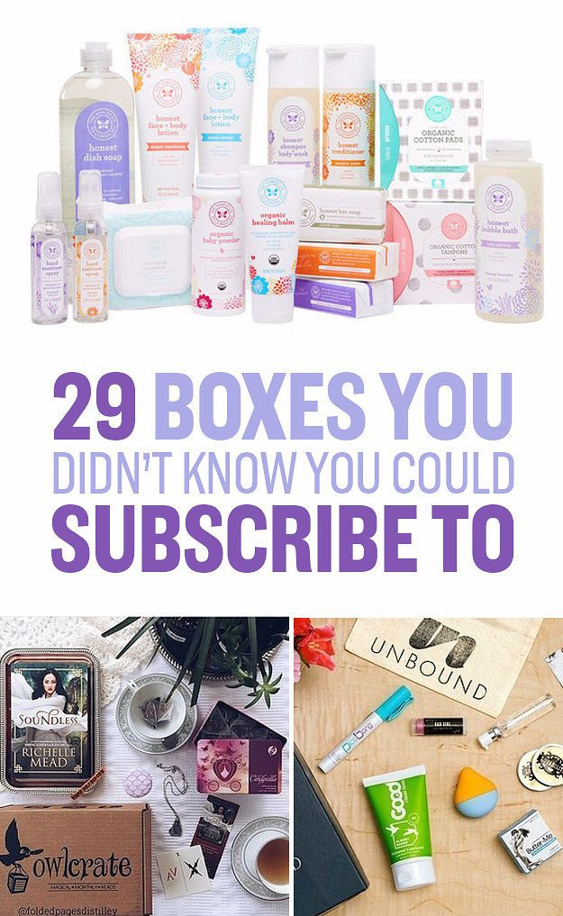 29 Boxes You Didn't Know You Could Subscribe To