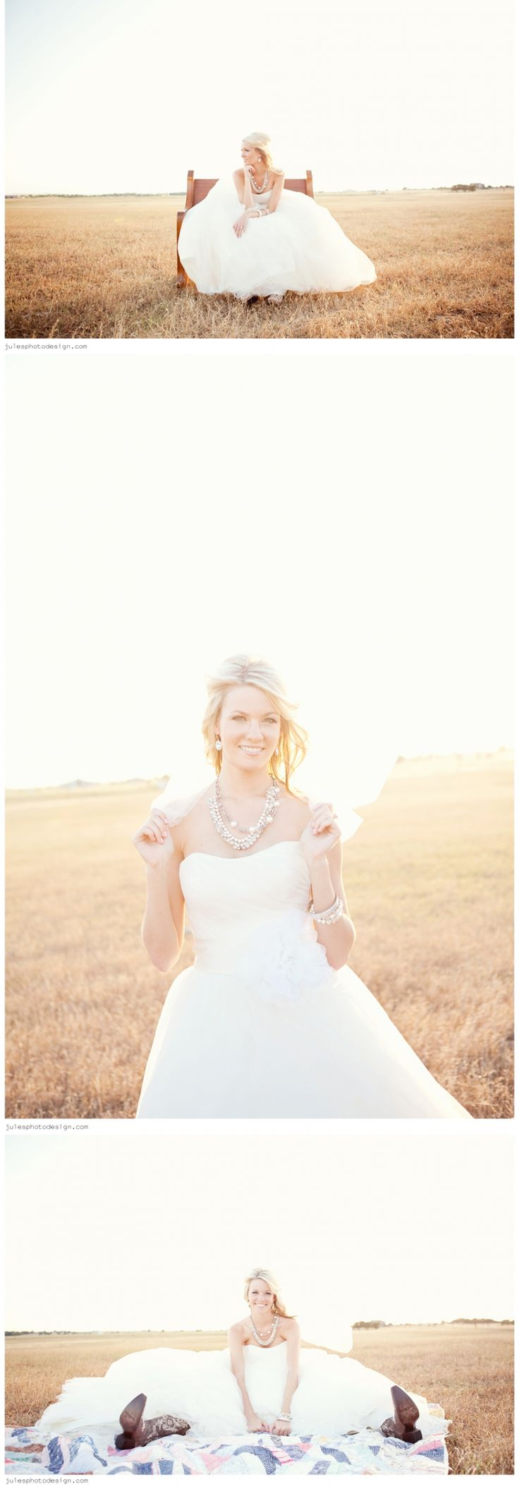 Outdoor Bridals #country #field #bridals julesphotodesign.com