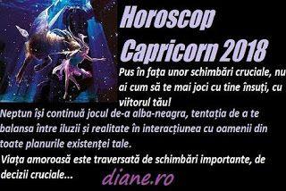 Horoscopul Capricornului 2018 te focalizează pe crezurile, simțămintele tale profunde, autentice, te direcționează către o perspectiva reali...