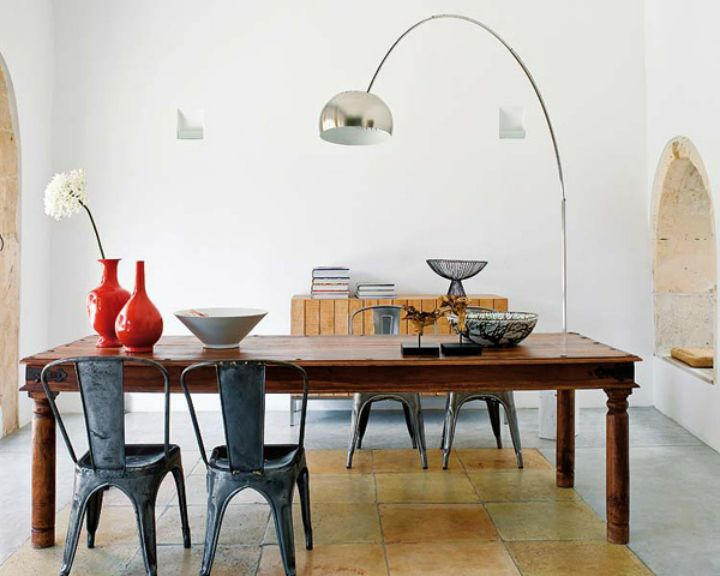 Arc Lamp Over Dining Table Google Search Dining Room Floor Lamp Dining Room Floor Modern Traditional Decor